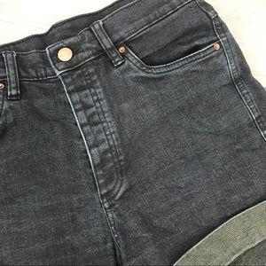 Monki jean shorts high waisted Demin med